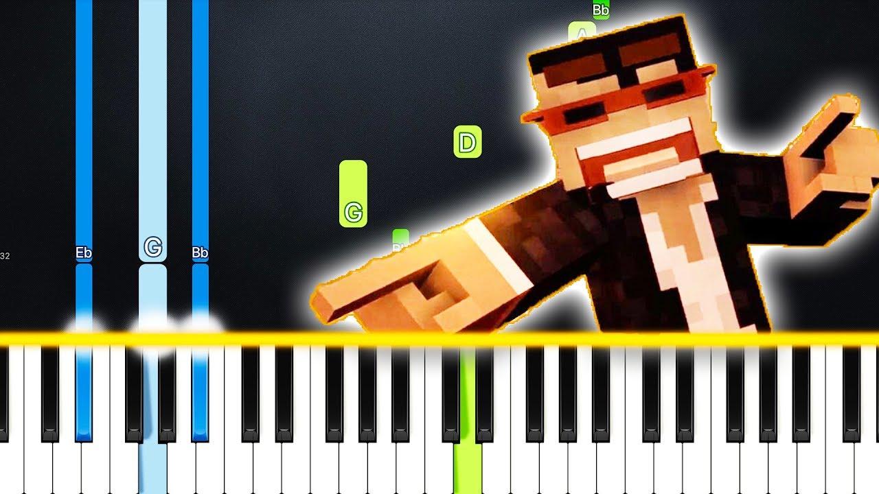 CaptainSparklez - Revenge (Minecraft) (Piano Tutorial) By MUSICHELP