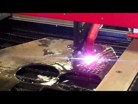 LONGEVITY Plasma Cutter cutting 100 holes on Torchmate CNC Table presented by Torchmate.mp4