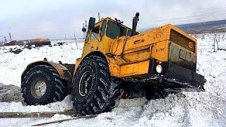 Тракторы Кировец Уникальная Новая подборка видео про трактора на бездорожье К-700 и К-701