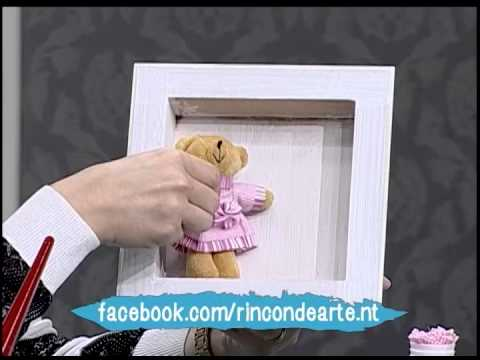 Como hacer un cuadro para el cuarto del bebe  YouTube