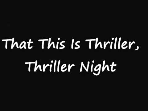 Michael Jackson Thriller Lyrics on screen with full song