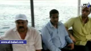 بالفيديو والصور..محافظ أسوان يتفقد 'بقعة الزيت' بمجري النيل