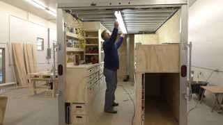 Building A Mobile Woodshop (part 29) Lights, Air, Action.