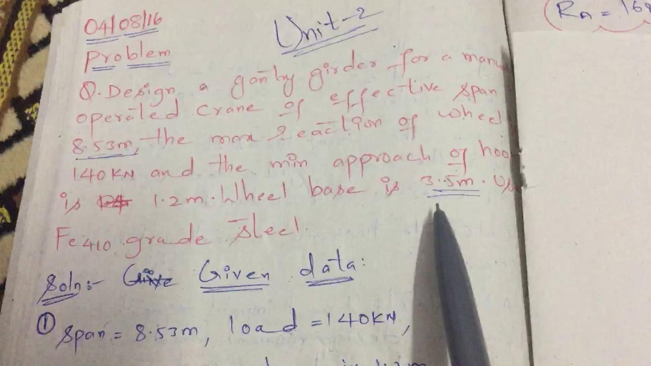 SEDD 2 DESIGN GANTRY GIRDER UNIT 2 PART 1