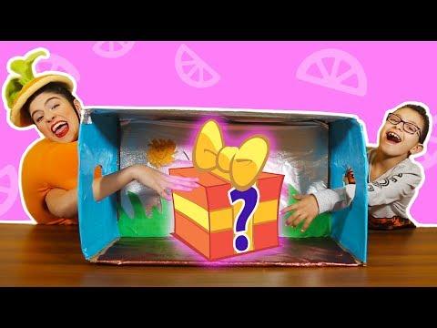 فوزي موزي وتوتي | فقرة المندلينا | لعبة ماذا يوجد بالصندوق  | What's in the box