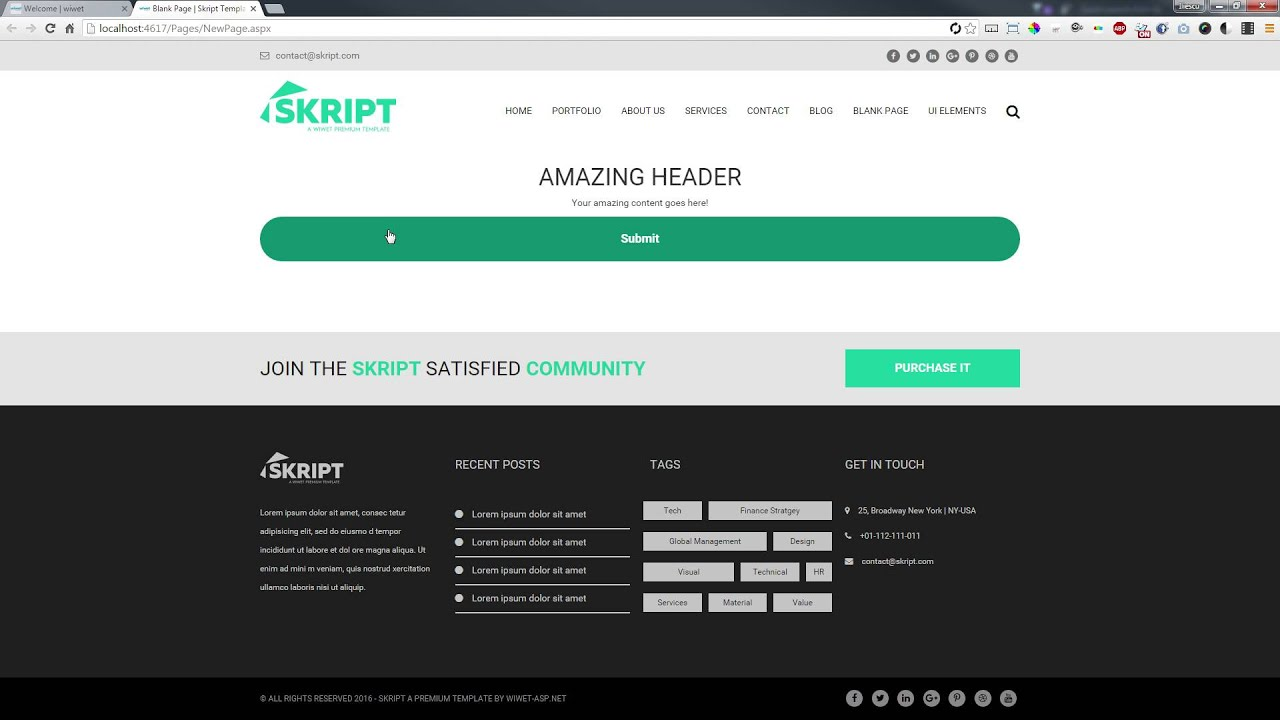Skript asp template wiwet asp web app in less than 30 net template wiwet asp web app in less than 30 seconds wiwet youtube pronofoot35fo Gallery