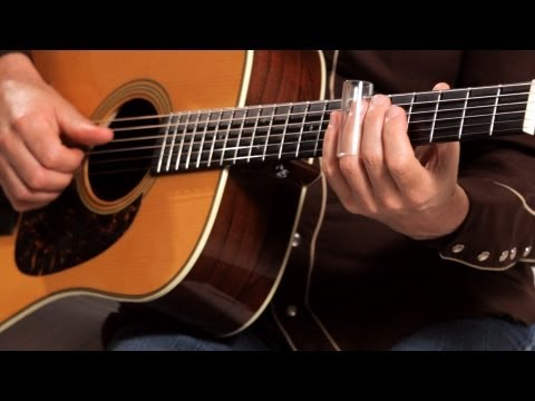 How to Play with a Bottleneck Slide  Country Guitar