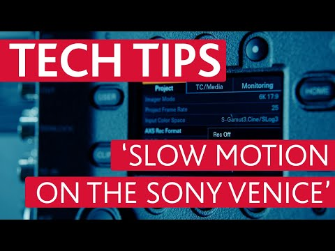 Sony VENICE High-Speed Frame Rate Explained