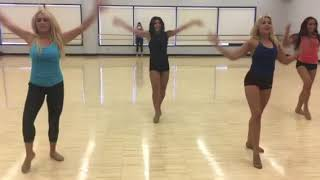 Dance Team Performance Routine with Counts (Front View)