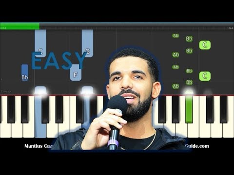 Drake In My Feelings Easy Piano Tutorial - Keke Do You Love Me