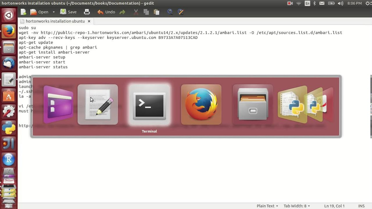 Hortonworks installation in ubuntu (locally)