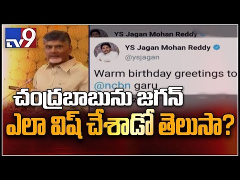 YS Jagan greets Chandrababu on his birthday - TV9