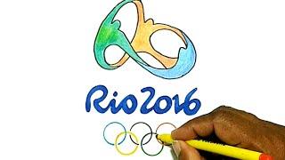 How to Draw the Rio 2016 Olympics Logo