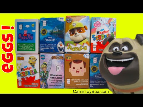 Chocolate Surprise Eggs Peppa Pig Disney Despicable Me 3 Paw Patrol Toy Story My Little Pony Frozen