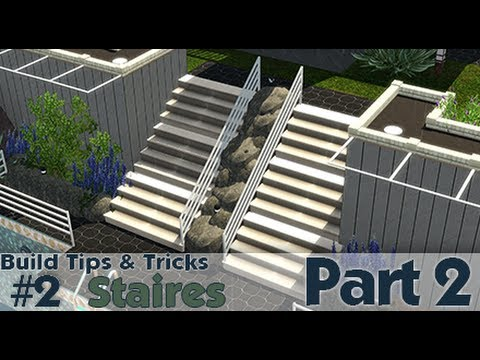 The sims 3 building tips and tricks 2 stairs part 2 for Construction tips and tricks