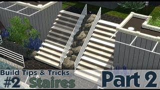 The Sims 3 - Building Tips And Tricks #2 - Stairs (part 2)