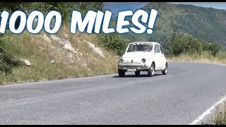 Milan to London in a 1971 Fiat 500 - 1000 mile adventure!