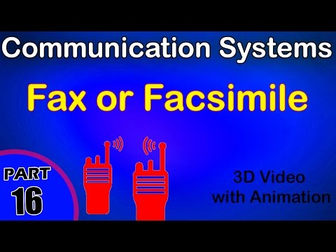 Fax or Facsimile | Communication System |class 12 physics subject notes lectures|CBSE|IITJEE|NEET