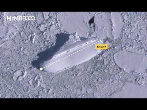 Misterio: descubren extraña figura de hielo en la Antártida desde Google Earth