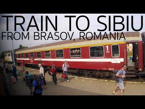 Train to Sibiu from Brasov Romania E026