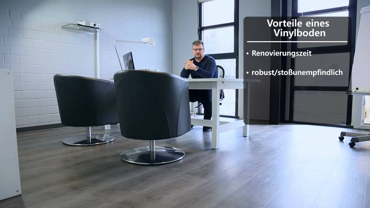 der bodenbelag f r b ror ume youtube. Black Bedroom Furniture Sets. Home Design Ideas