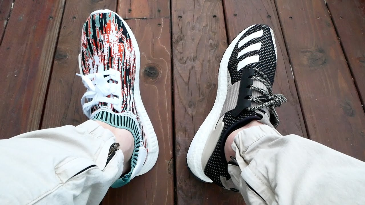 b8b5258ee26 Adidas SNS NMD Gucci Glitch Datamosh Review!! + Day One Ultra Boost Review    On Feet!