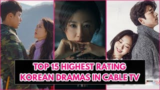 Top 15 Highest Rating Korean Dramas In Cable TV Of All Time (June 2020)