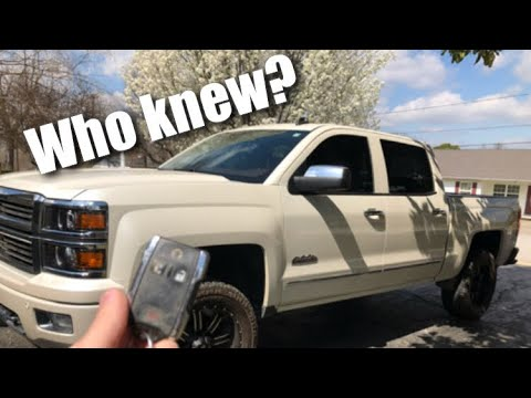 Chevrolet Silverado Secret Key Fob Features Youtube