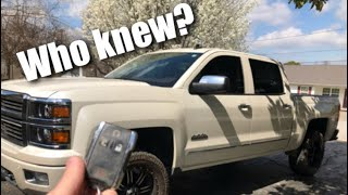 Chevrolet Silverado SECRET Key FOB Features