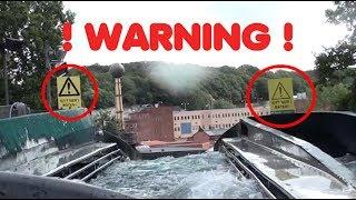 Water ride BIG splash 🎢and BIG drop. Flume Ride at Liseberg, Sweden 2017