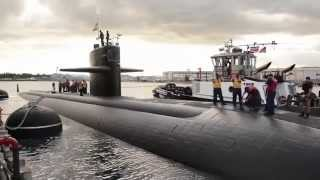 USS La Jolla (SSN 701) Departure From Pearl Harbor For The Last Time