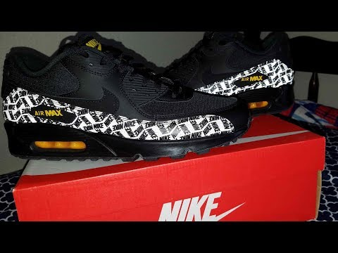 unboxing-nike-air-max-90-black/black/amarillo-[-link-to-buy-in-description]