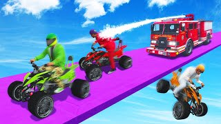 Download FIRE FIGHTERS vs. QUAD BIKERS! (GTA 5 Funny Moments) Mp3 and Videos