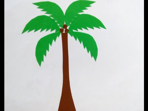 How to coconut tree collage | Cắt dán cây dừa