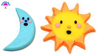 "Play-Doh Sun and Moon Cute ""Good Night Moon"" ""Good Morning Sun"""