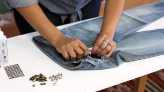 How to Stud Jeans