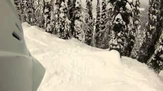 Tree skiing at Whitewater, Nelson British Columbia