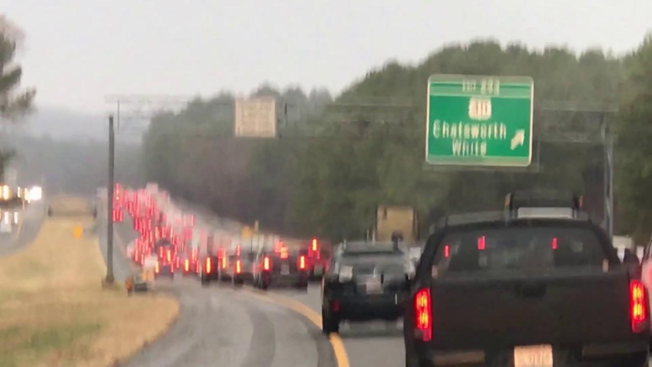 Traffic In I 75 Atlanta Ga To Chattanooga Tn Youtube