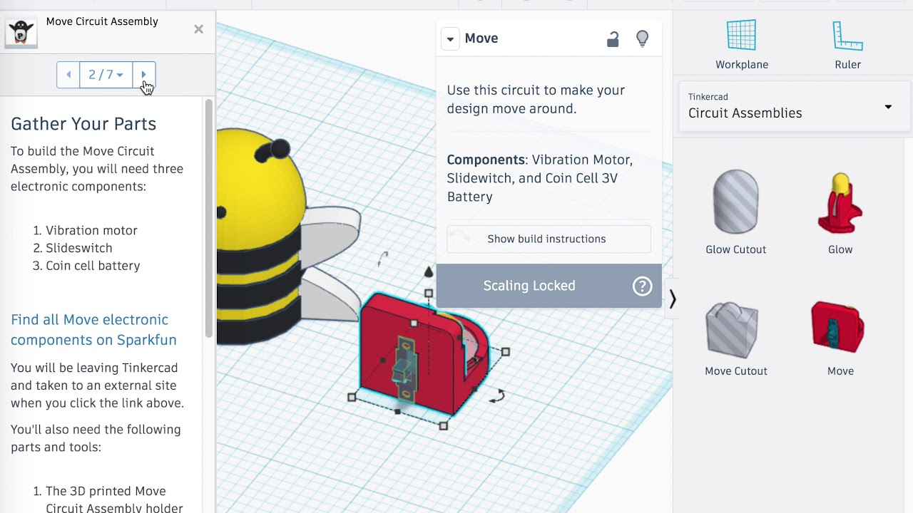 Designing Interactive 3D Printed Things with Tinkercad Circuit