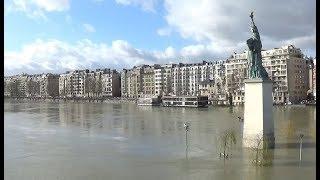 VIDEO Crue de la Seine à Paris - Inondations - le 1er février 2018 - Flood of River - january