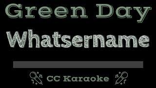 Green Day • Whatsername (CC) [Karaoke Instrumental Lyrics]