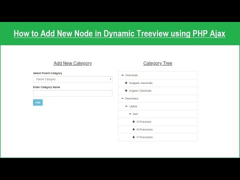 Insert Tree View Node using PHP Ajax | Webslesson