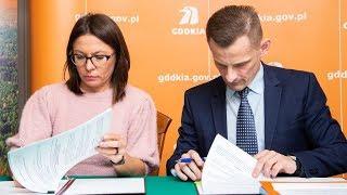 Podpisanie umowy na zaprojektowanie ostrołęckiej obwodnicy