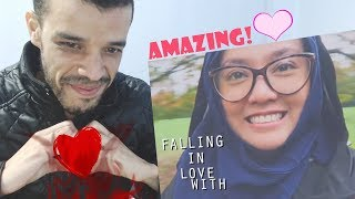 FALLING IN LOVE WITH YOU | SHILA AMZAH | LYRICS VIDEO |REACTION| جزائري