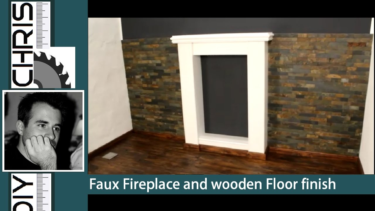 Fake Fireplace And Wooden Floor Finish Deko Kamin Bauen Youtube