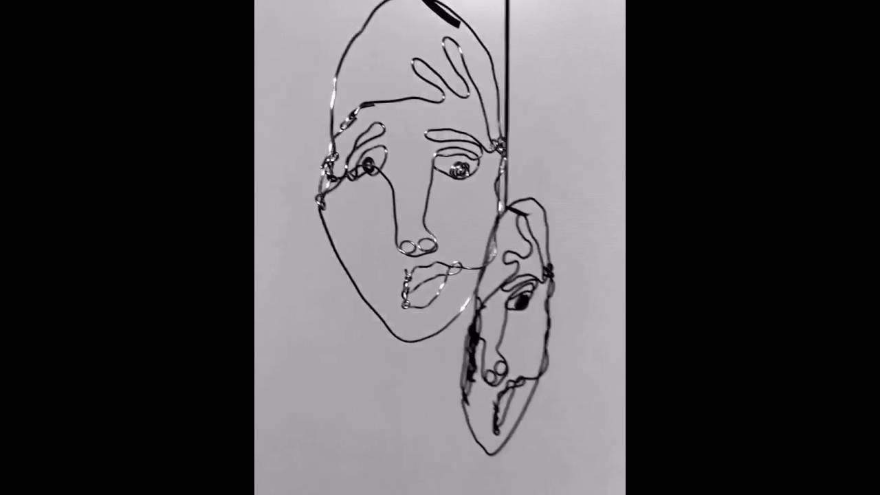 5th Grade Alexander Calder Wire Self-Portraits - YouTube