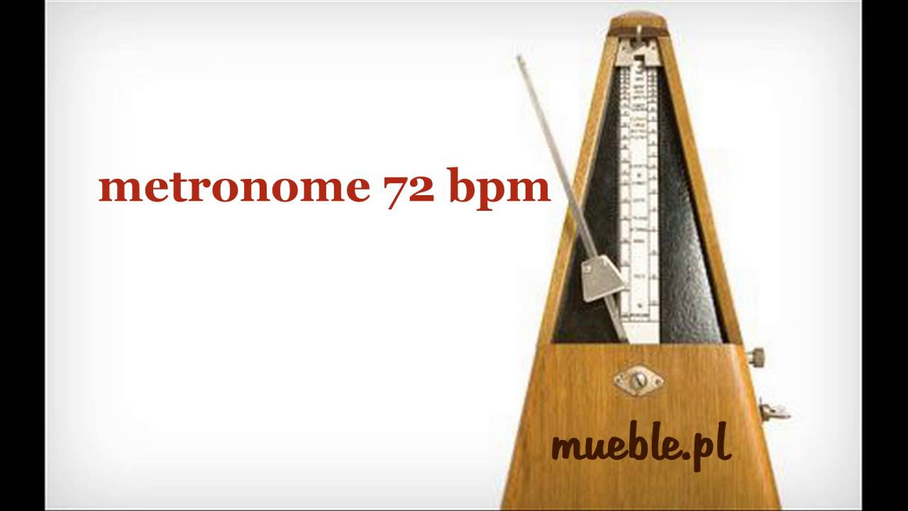 72 BPM (Beats Per Minute) metronome metronom - YouTube
