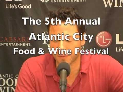 Interview with Chef Rocco DiSpirito. AC Food and Wine Festival, 2013.