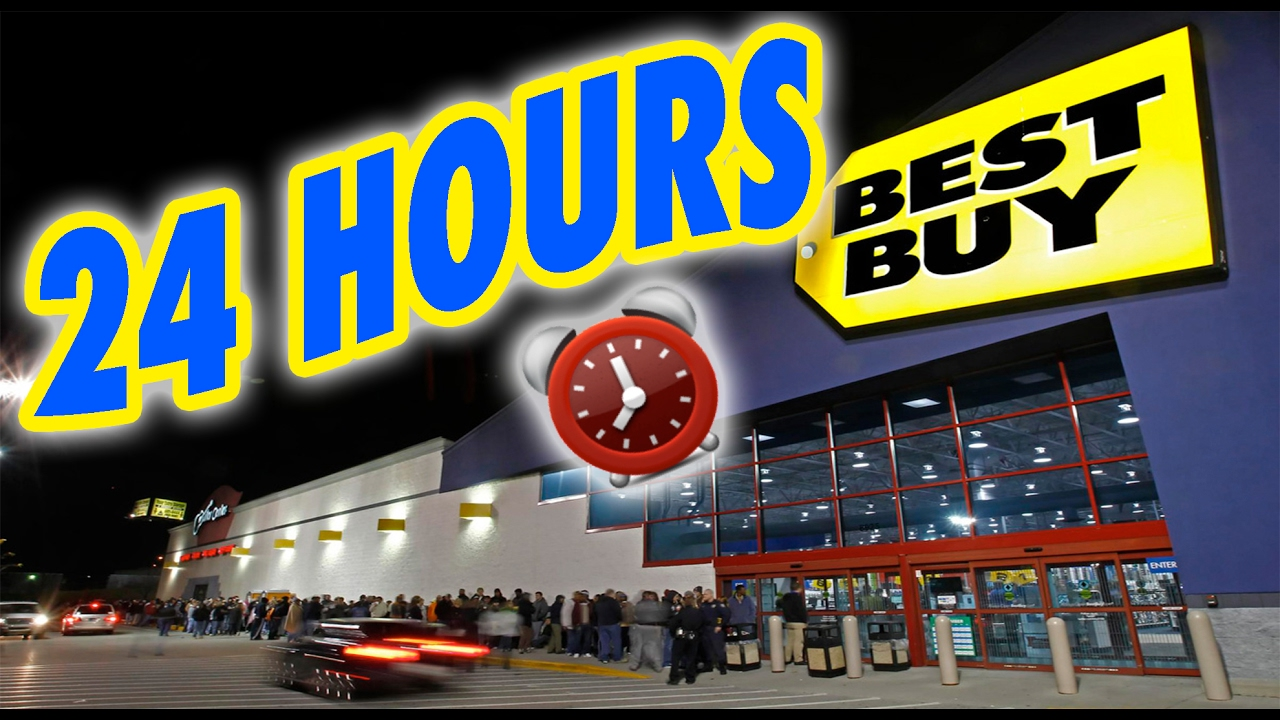 24 hour overnight in best buy locked overnight challenge in best buy fort youtube