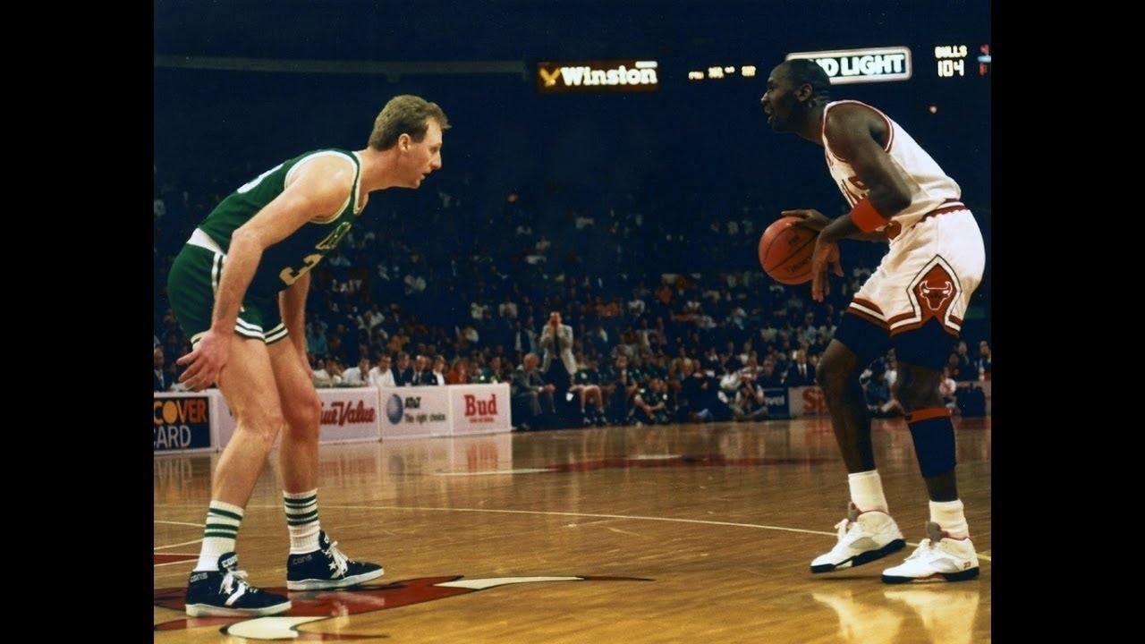 Michael Jordan v Larry Bird 1992-03-11  Jordan 32 (14-23 FG) v Bird 10  Points - Their Last Meeting e0026cdcc
